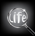 Magnifying Glass Focus Life vector image