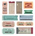 vintage movie tickets vector image