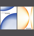 abstract geometric background set vector image vector image