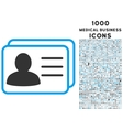 Account Cards Icon with 1000 Medical Business vector image