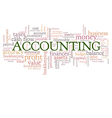 Accounting Word Cloud Word Bubble tags vector image