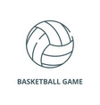 basketball game line icon linear concept vector image vector image