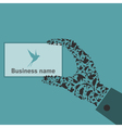 Bird a hand vector image