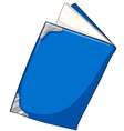 Blue book on white vector image vector image