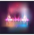 bluured city siluet abstract sound waves light