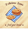 Bread On A Napkin 5 vector image vector image