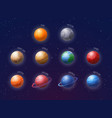 cartoon solar system planets signed vector image