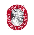 chicken logo design template food or farm vector image vector image