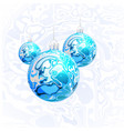 christmas balls in the style of marble ink vector image vector image