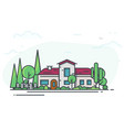 classic house with garden vector image vector image