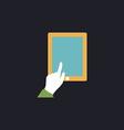 click tablet computer symbol vector image vector image