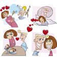 comic love story vector image vector image