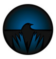 crow icon vector image vector image