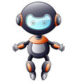 cute cartoon robot isolated on white background vector image vector image