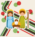 cute family manger characters christmas vector image
