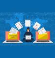 data phishing hacker attack vector image vector image