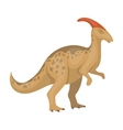 Dinosaur Parasaurolophus icon in cartoon style