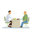 doctor and patient ecg overweight vector image vector image