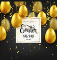 Easter golden egg with calligraphic lettering