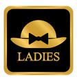 female restroom symbol button vector image vector image