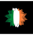 flag of Ireland Pointed star Abstract flag of vector image