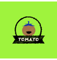 flat icon design collection tomato emblem vector image