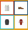 flat icon garment set of stylish apparel male vector image vector image