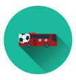 Football fan bus icon vector image vector image