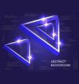 geometric triangles sparkle on the background vector image