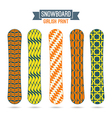 Girlish prints for snowboards vector image