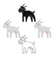 goat icon cartoonblack single bio eco organic vector image