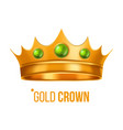 gold crown nobility baroque object vector image vector image