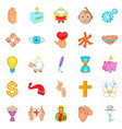 goodness icons set cartoon style vector image vector image