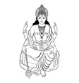 hindu god vishnu vector image