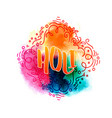 holi holiday greeting logo vector image vector image