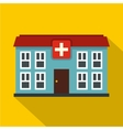 Hospital icon flat style vector image vector image