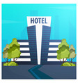 hotel building guest house travel and trip vector image vector image