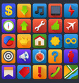 icon set multimedia mobile software vector image