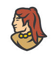 injun warrior sign vector image vector image