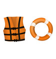 life jacket and buoy vector image