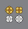 linethai artthai thailandart flower vector image vector image