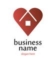 Logo heart home vector image