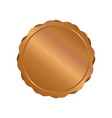 modern bronze circle metal badges labels and vector image