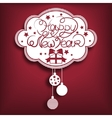 New year card Red vector image vector image