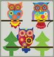 owl day shcool vector image vector image