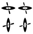 paddle boat black vector image