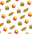 pattern fast food and junk food vector image vector image