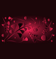 pattern of crimson black plants and grass blades vector image vector image