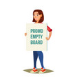 person with banner social or political vector image