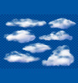 realistic clouds cloudy sky fluffy cloud and vector image vector image